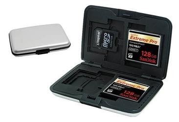 Aluminiowe etui na karty pamięci +grawer