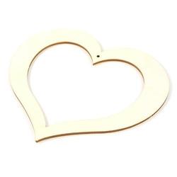 Drewniana zawieszka w kształcie serca 14x13 cm