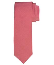 Koralowy jedwabny krawat profuomo