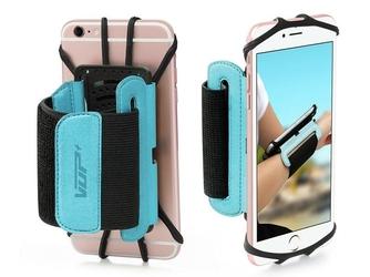 Etui opaska sportowa armband vup+ na nadgarstek do telefonu niebieskie - niebieski