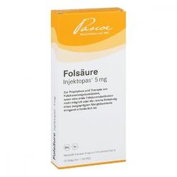 Injektopas 5 mg, roztwór do zastrzyków z kwasem foliowym
