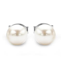 Staviori kolczyki. naturalne perły hodowlane słodkowodne. srebro 0,925. średnica 6 mm.
