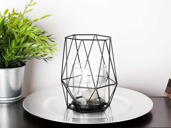 Świecznik metalowy geometryczny altom design czarny 17,8 cm