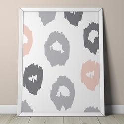 Pastelowe łaty - plakat dla dzieci , wymiary - 30cm x 40cm, kolor ramki - biały