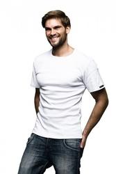 Koszulka męska art. 112 biały sesto senso