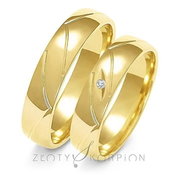 Obrączki ślubne złoty skorpion – wzór au-a138