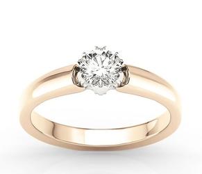 Pierścionek z różowego i białego złota z białym szafirem bp-2130pb