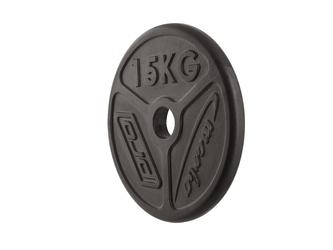 Obciążenie olimpijskie żeliwne 15kg mw-o15-oli - marbo sport - 15 kg