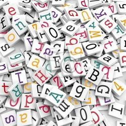 Fototapeta znaki alfabetyczne - koncepcja informacja