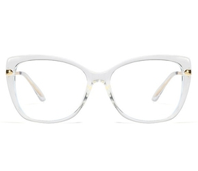 Bezbarwne okulary do komputera bez wady wzroku damskie z filtrem blue light zerówki 2549-5
