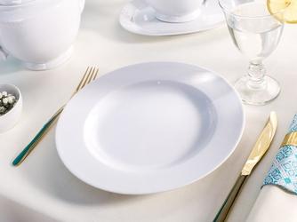 Talerz obiadowy płytki porcelana mariapaula biała 26 cm