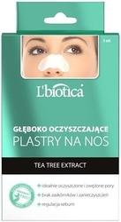Lbiotica plastry na nos głęboko oczyszczające z tea tree extract x 3 sztuki