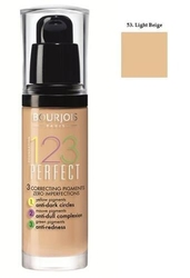 Bourjois 123 perfect foundation - podkład ujednolicajacy 53 light beige 30ml
