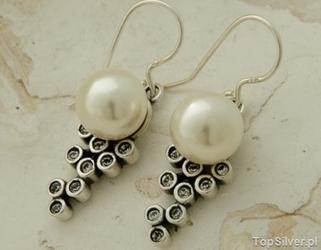 Celebra - srebrne kolczyki perła i kryształy