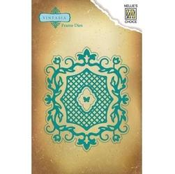 Wykrojnik do papieru ramka kwadrat z ornamentem - kwadrat