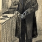 Man polishing a boot, vincent van gogh - plakat wymiar do wyboru: 70x100 cm