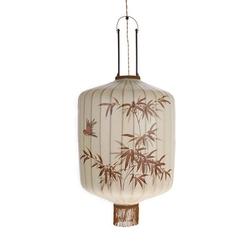 Hkliving lampa wisząca lampion tradycyjna l kremowa vol5026