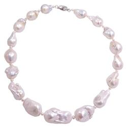 Noriko naszyjnik ogromne białe perły barokowe