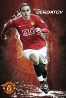 Manchester unitedberbatov 0809 - plakat