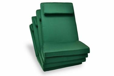 Poduszki zielone do foteli, krzeseł ogrodwych 4szt