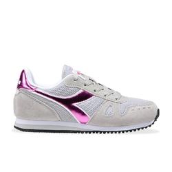 Sneakersy dziewczęce diadora simple run gs girl - szary