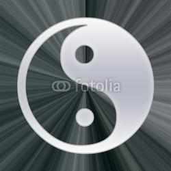 Obraz na płótnie canvas czteroczęściowy tetraptyk yin yang