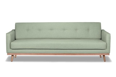 Sofa klematisar 3-osobowa tkanina łatwoczyszcząca poliester 100 mineral