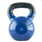 Hantla winylowa żeliwna kettlebell 16 kg - hms - 16 kg  niebiesko-czarny