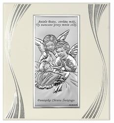 Obrazek BC6468SF2 Dwa Aniołki na panelu 14 x 15 cm.