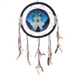 Wilk przewodnik duchowy - łapacz snów, 33cm