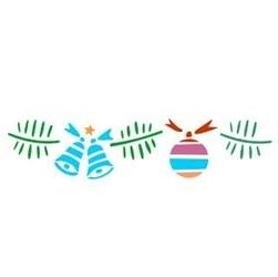 Szablon świąteczny bordiurowy 6x28 cm - girlanda - 29