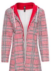 Żakiet shirtowy bonprix czerwono-biały