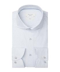 Biała koszula profuomo sky blue w graficzny wzór 37
