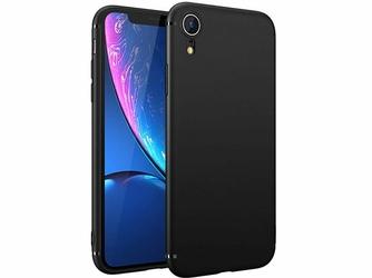 Etui silikonowe Alogy slim case do Apple iPhone XR czarne + Szkło