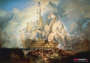 bitwa pod trafalgarem  william turner ; obraz - reprodukcja