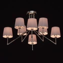 Nowoczesna 8-ramienna lampa sufitowa, różowe, plisowane klosze akrylowe 103010308