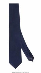 Granatowy krawat jedwabny o skośnym splocie