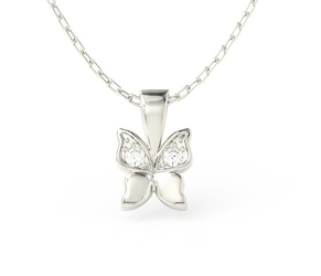 Wisiorek w kształcie motyla z białego złota z cyrkoniami bpw-88b-c - białe