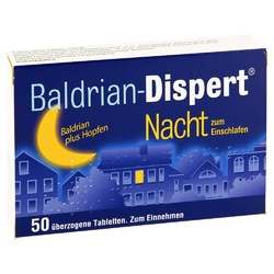 Baldrian dispert nacht powlekane tabletki nasenne