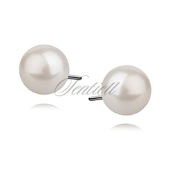 Srebrne kolczyki pr.925 perła - 6 mm