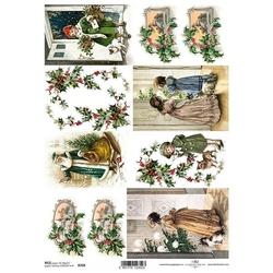 Papier ryżowy ITD A4 R769 Boże Narodzenie