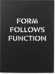 Plakat form follows function 50 x 70 cm czarny
