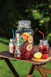 Słój szklany z kranikiem kitchen craft 3,7 litra kchmglsjar
