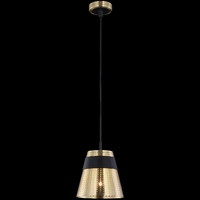 Lampa wisząca z perforowanym kloszem trento maytoni modern mod614pl-01bs