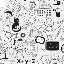 Fototapeta szwu z motywu szkoły