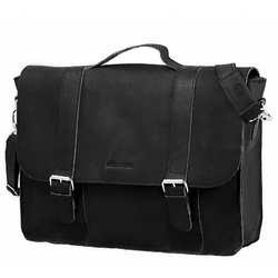 Skórzana torba na ramię brodrene bl11xl czarna listonoszka