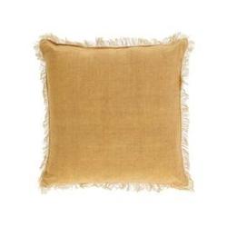 Poszewka na poduszkę mira musztardowa szer. 45 cm
