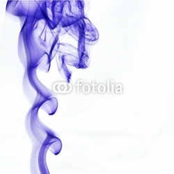 Obraz na płótnie canvas trzyczęściowy tryptyk niebieski dym