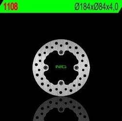 Ng1108 tarcza hamulcowa kawasaki kx 80 84-99 184x84x4 4x6,5mm