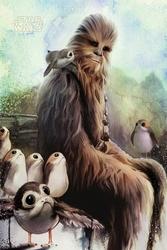 Star Wars: Ostatni Jedi Chewbacca and Porgs - plakat